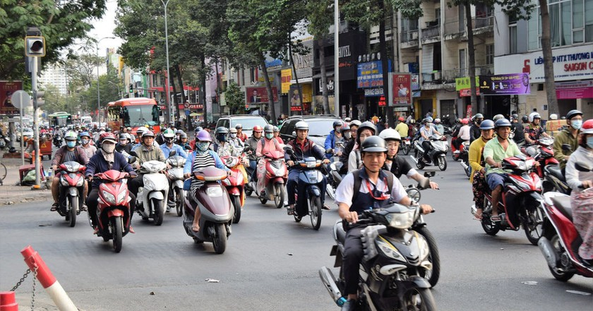 Motorbikes in Ho Chi Minh City, Vietnam