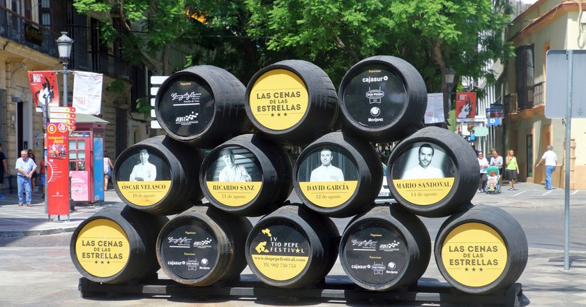 Sherry barrels in the centre of Jerez