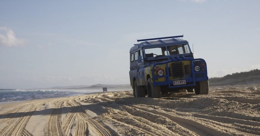 Four-wheel drive on North Stradbroke Island