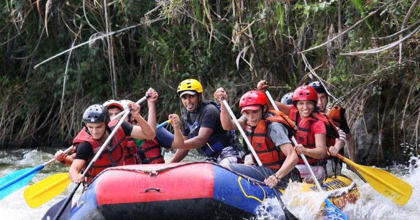 Raft class V rapids in Colombia's Santander region
