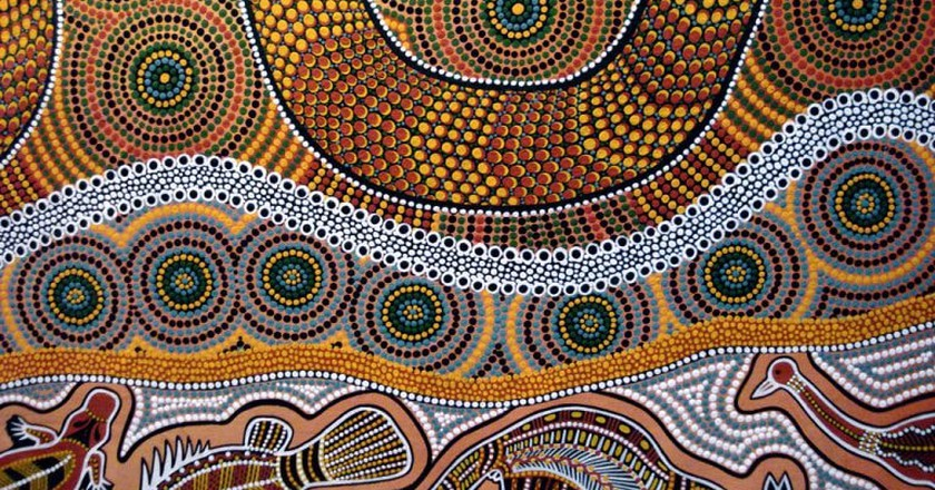 Traditional Aboriginal artwork