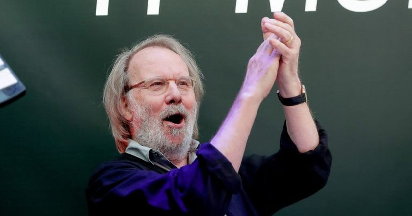 Benny Andersson at the opening of ABBA The Museum's new exhibition