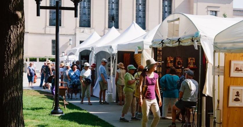 North Ingalls Mall during the Ann Arbor Art Fair