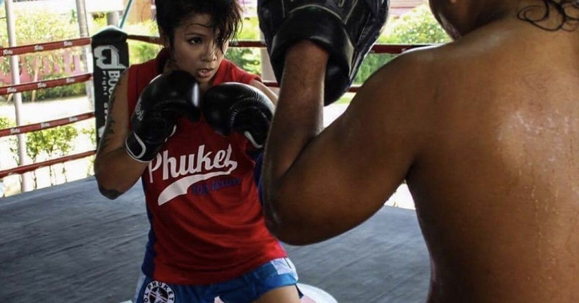 KC Carlos moved to Thailand in 2015 to further her Muay Thai career.