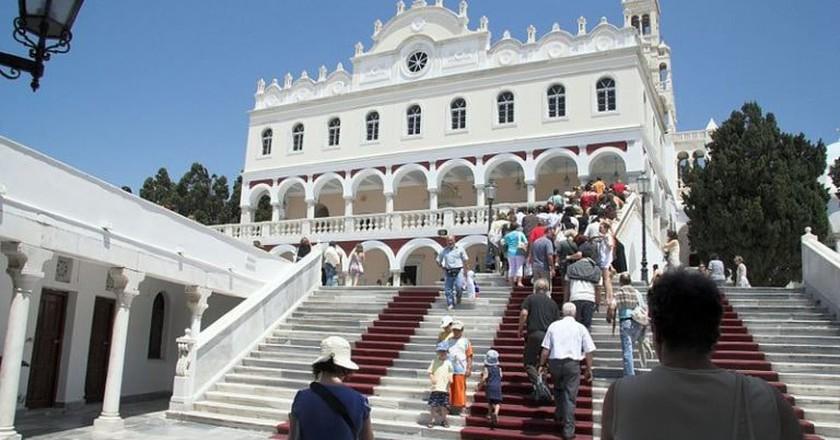 Inside area of pilgrimage basilica, Chora of Tinos