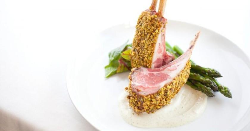 A lamb dish at North Fork Table & Inn