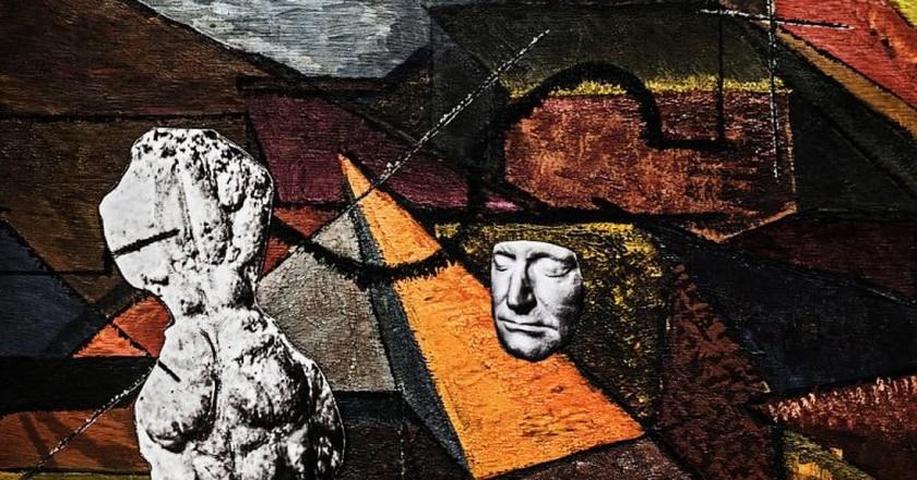 Sofia Borges, 'Pintura, Cérebro e Rosto' ('Painting, Brain, and Face'), mineral pigment on cotton paper, 150 x 230 cm (2017)