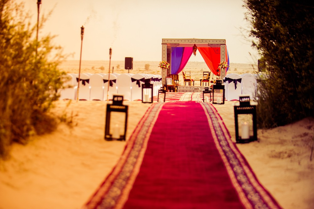 A wedding venue in the desert