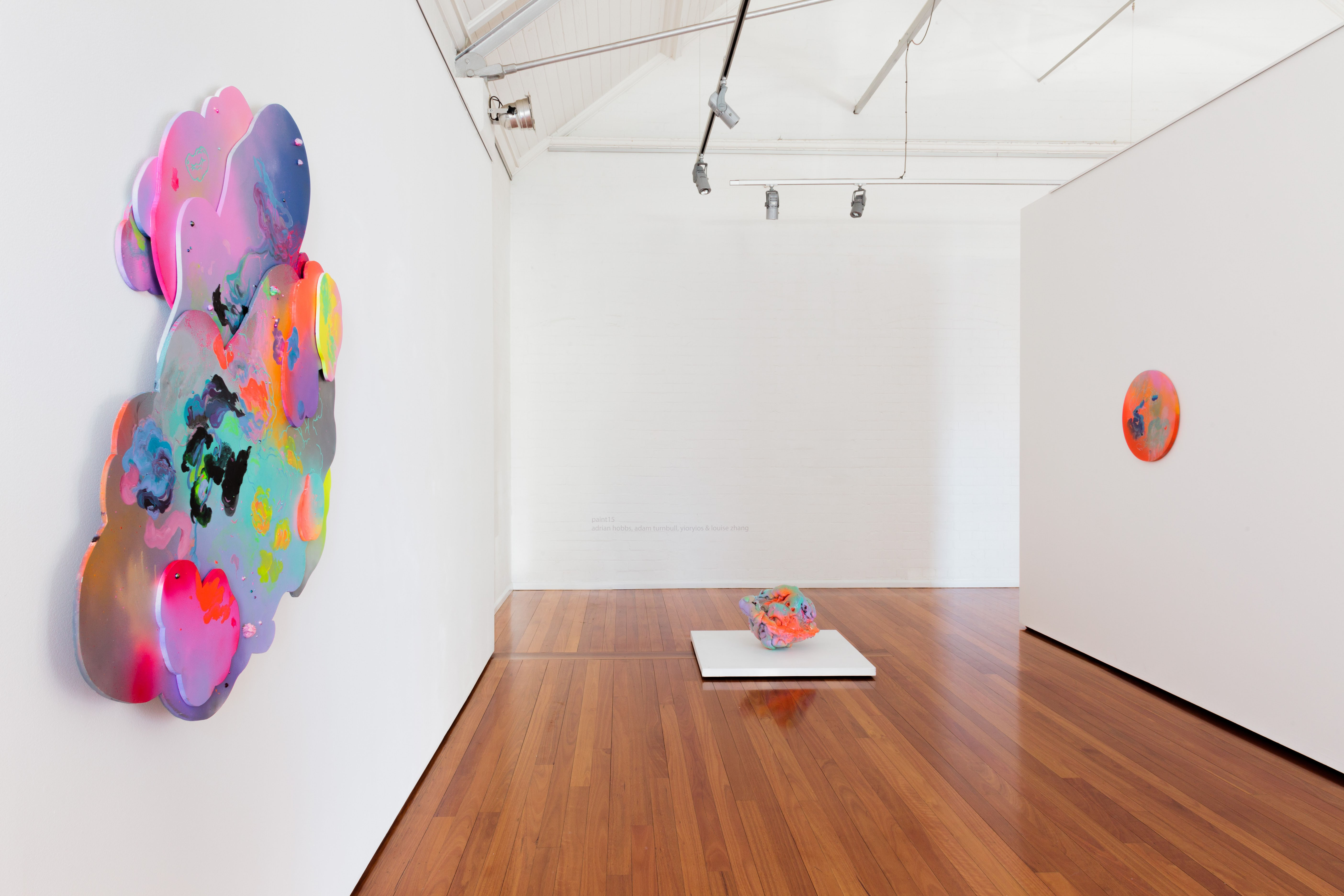 Louise Zhang, install shot from PAINT15