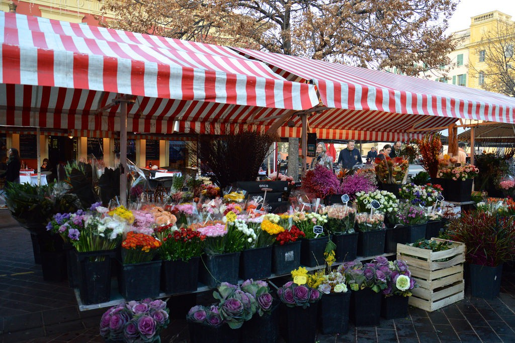 Nice's flower market, Marché aux Fleurs