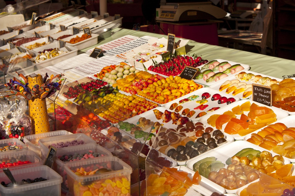 Nice's flower market also sells fruit, vegetables and delicious local produce