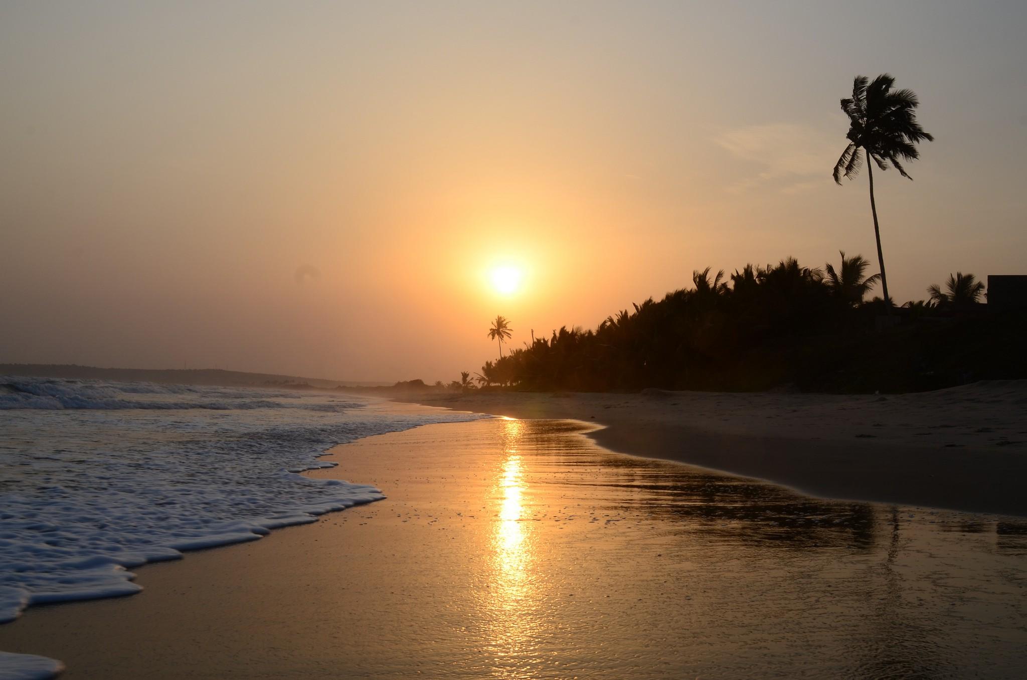 Sunset at Labadi Beach