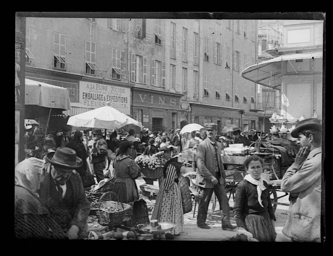 April 1899, at Nice's Marché aux Fleurs