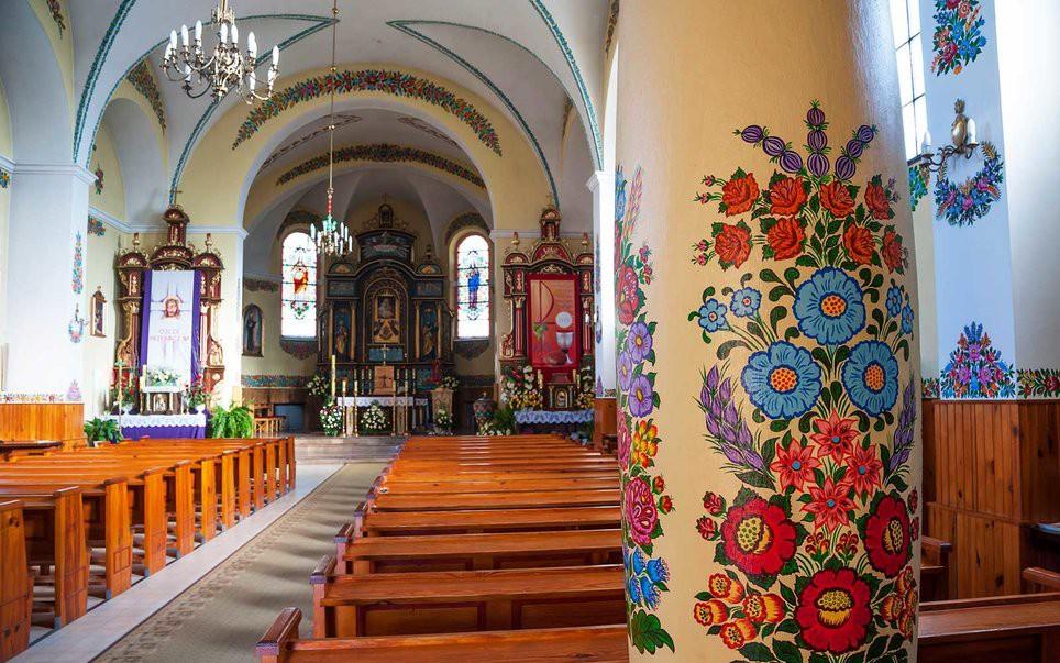 Image result for Church of Saint Joseph in Zalipie village, Poland,