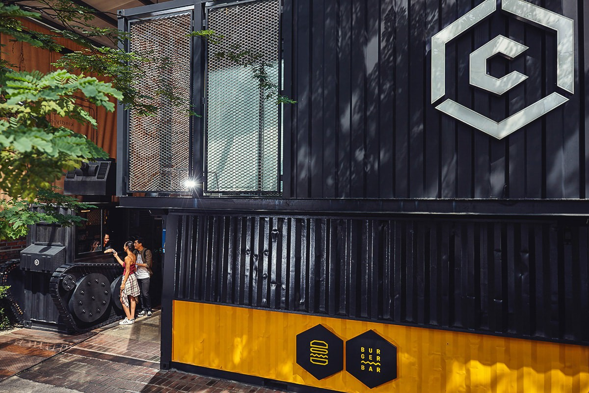 Entrance of the Container Hotel