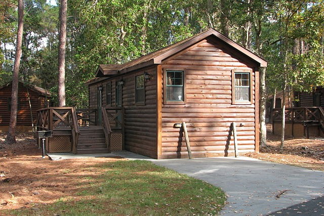 A cabin at Disney's Fort Wilderness Lodge.