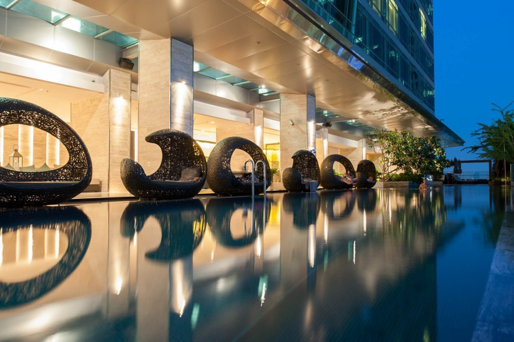 Rooftop Pool At The Eastin Grand Hotel Sathorn Bangkok