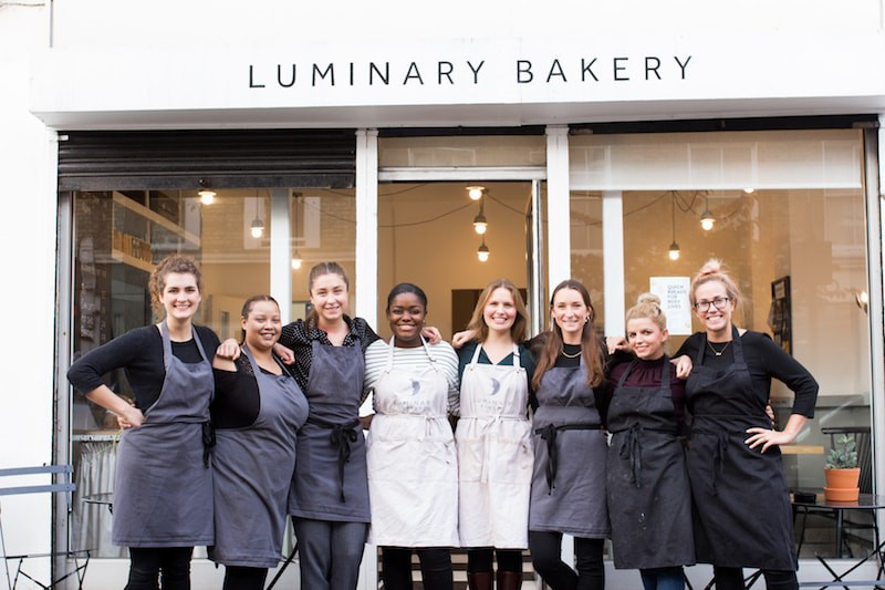Luminary whole team front cafe photo for Press