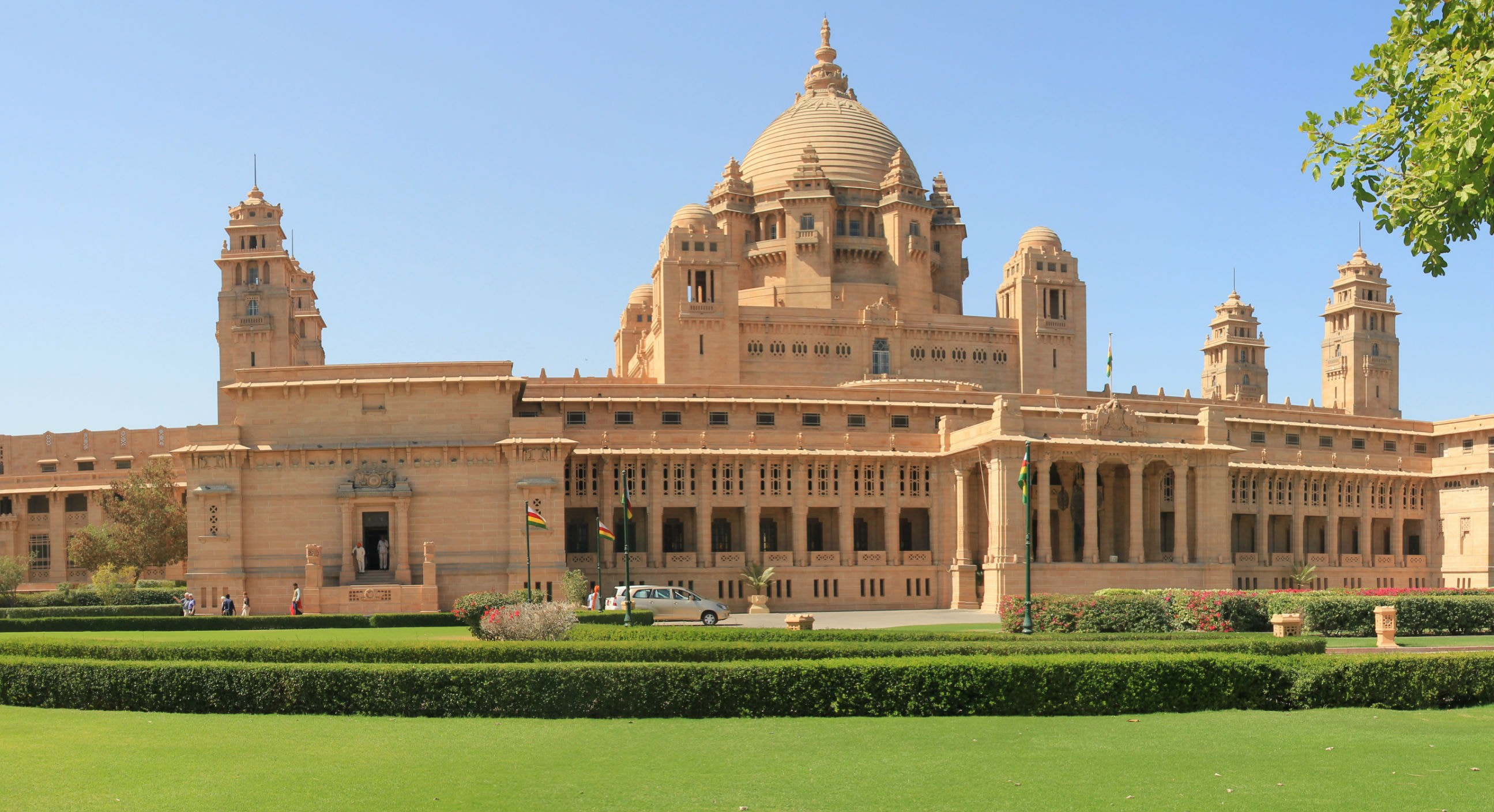 The Umaid Bhawan Palace complex still houses the private residence of the Rathore royal family