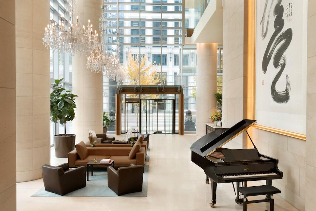 Upper lobby, Shangri-La Hotel, Vancouver
