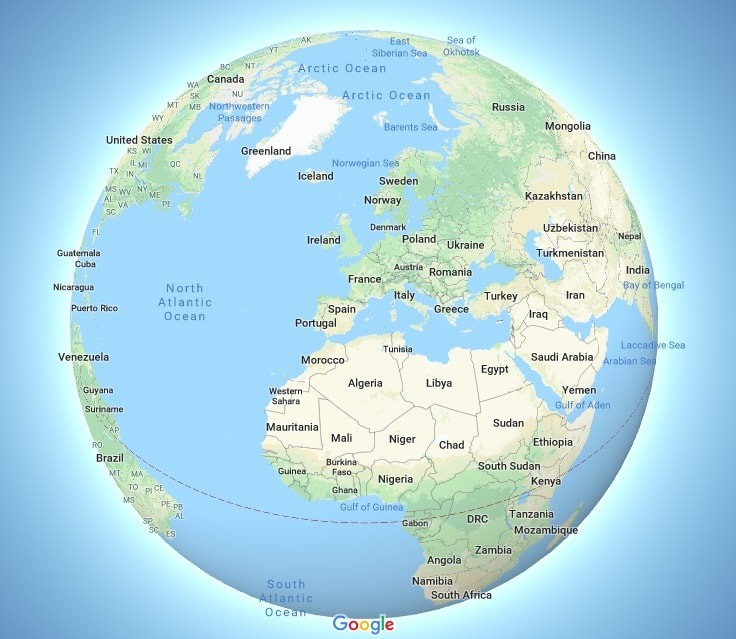 Map Of Spain Google Maps.The New Globe Mode On Google Maps Will Change The Way You Think