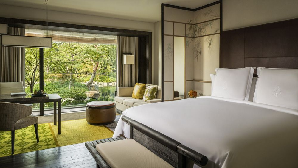 The rooms at the Four Seasons open onto the property's lush private grounds