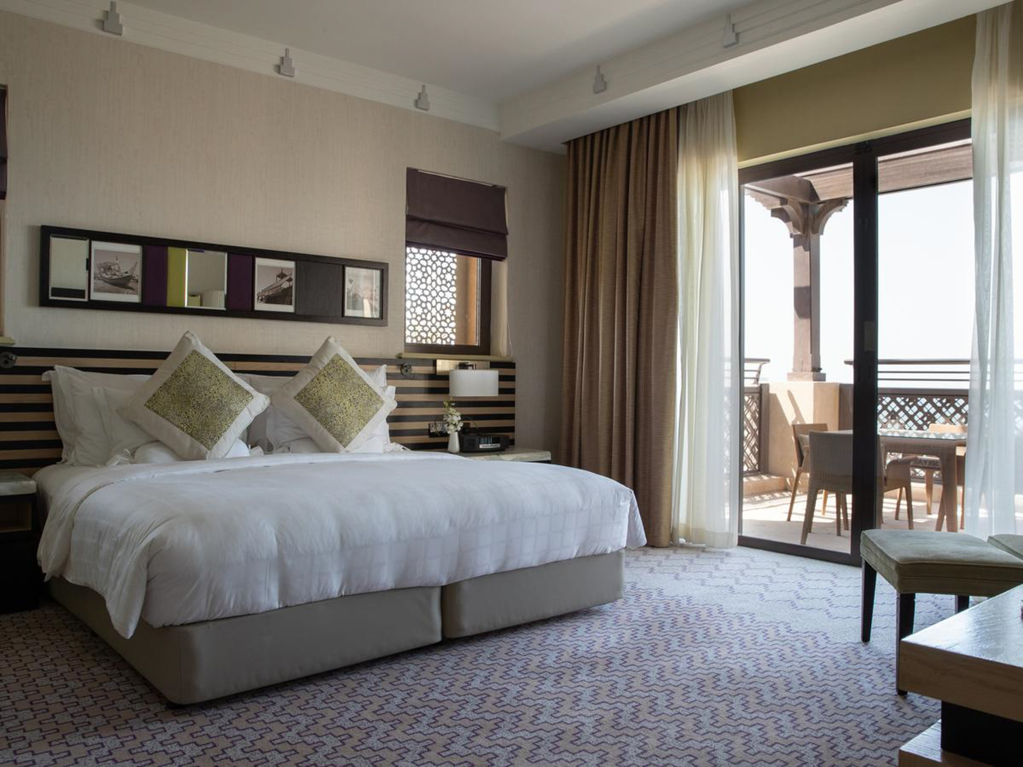 Mina A'Salam sits in the Venetian-style waterways with impressive views of the Arabian Gulf