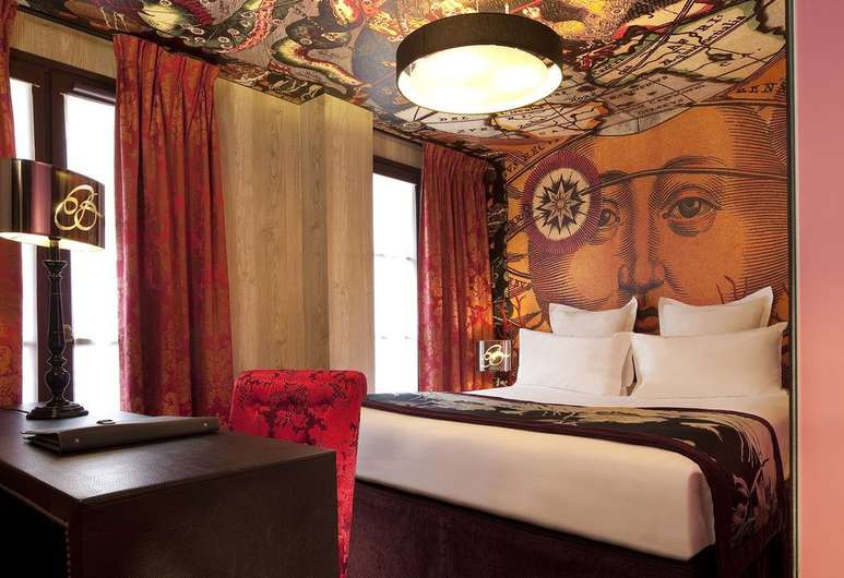 Hôtel Le Bellechasse's rooms burst with colour and character