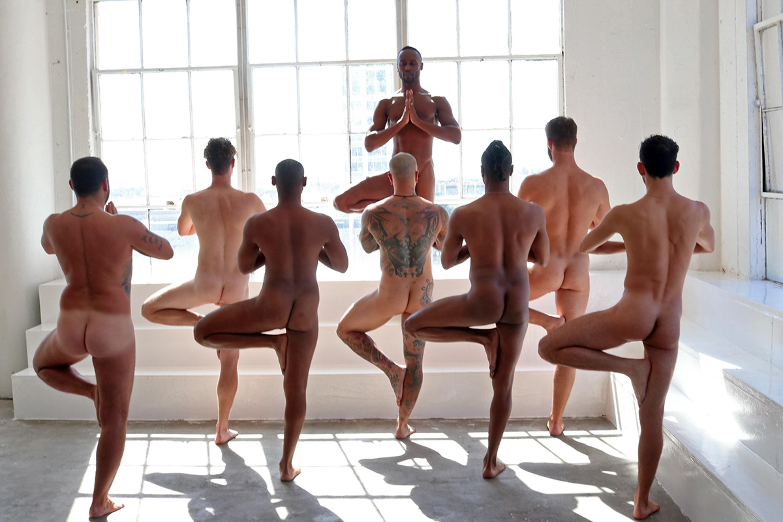 Nudist yoga male