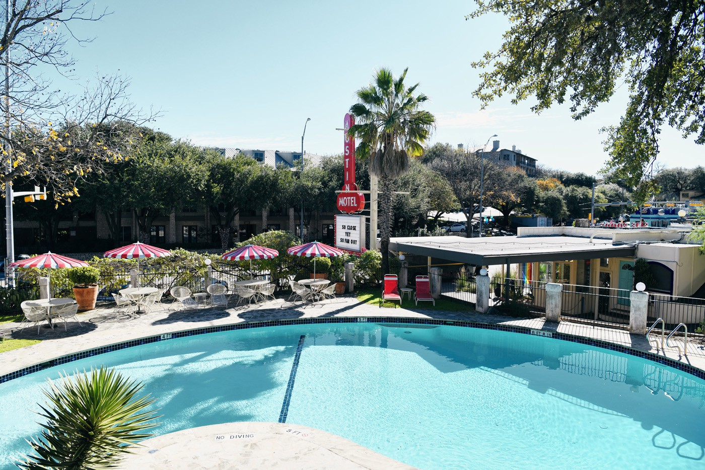 Austin Motel has the best swimming pool in town