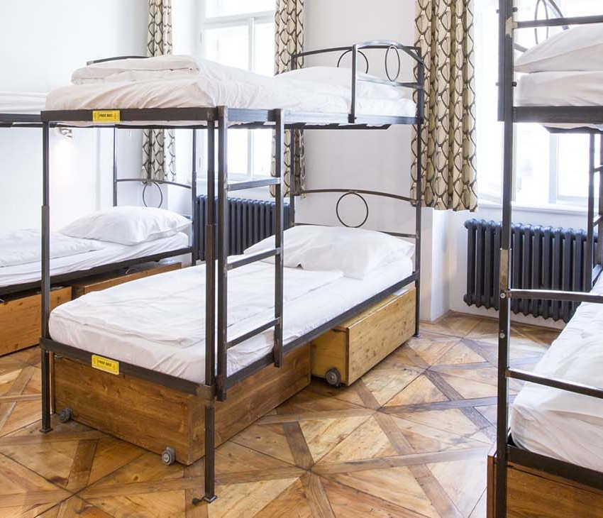 There are 12 private rooms and 17 shared dorms at Sophie's Hostel