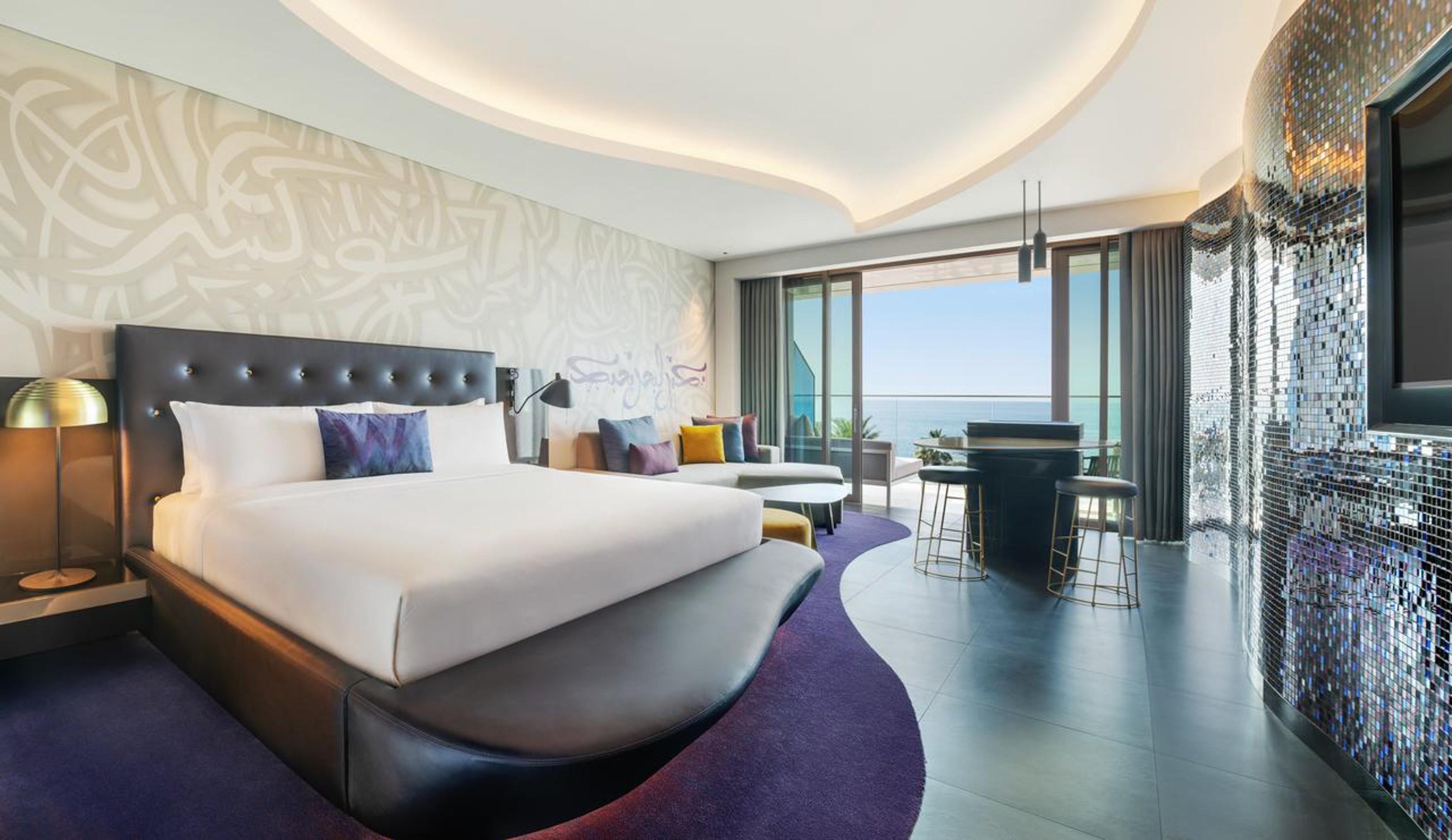 The rooms in the W Dubai are all uniquely designed
