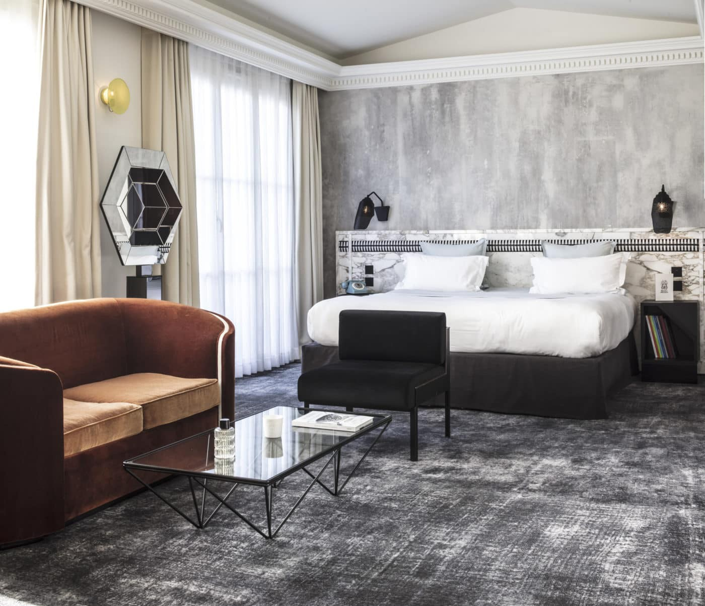 Les Bains nods to its heritage in the retro-chic interiors