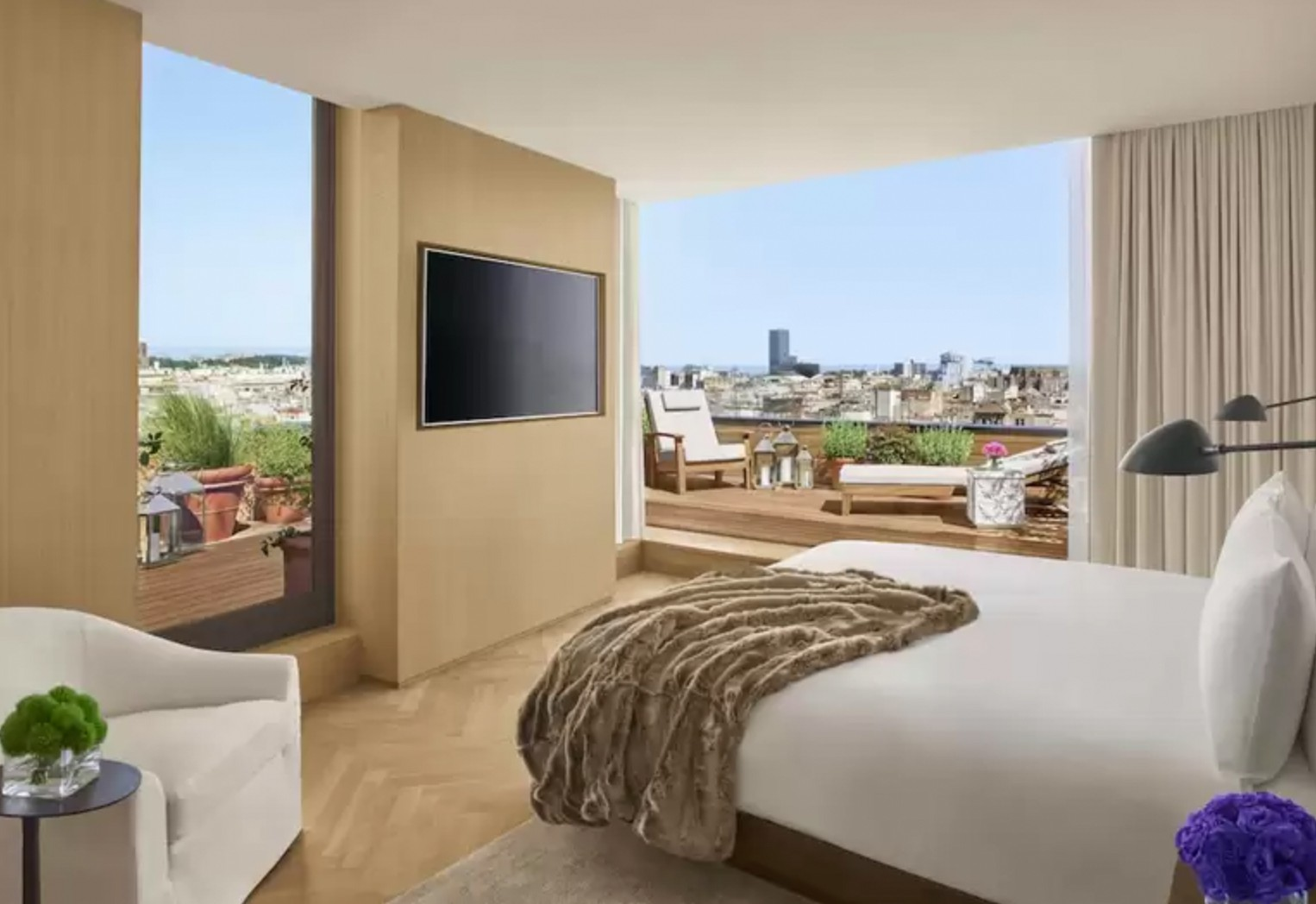 The Barcelona EDITION's rooms offer sweeping views