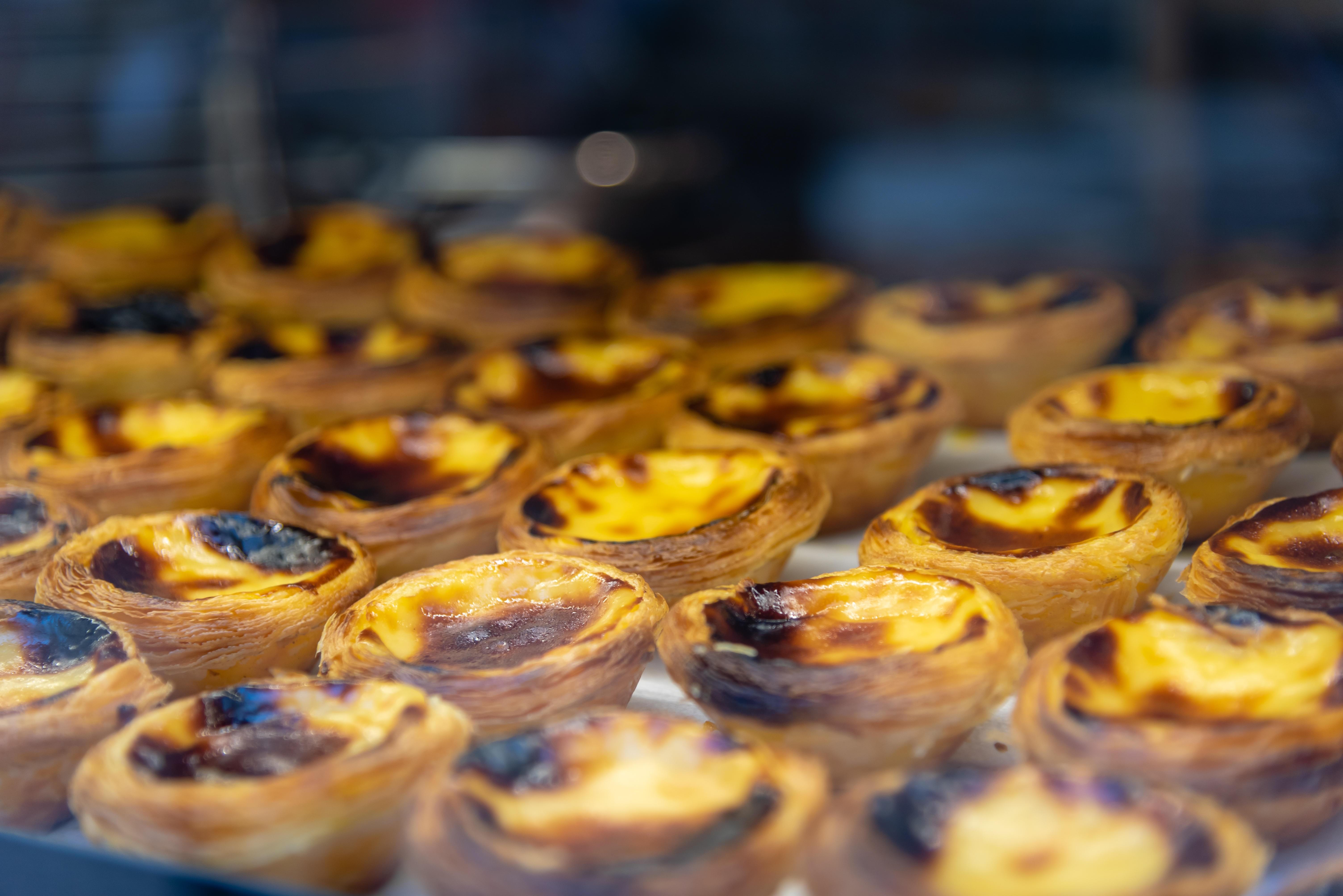 Pasteis de nata, the famous Portuguese custard tarts