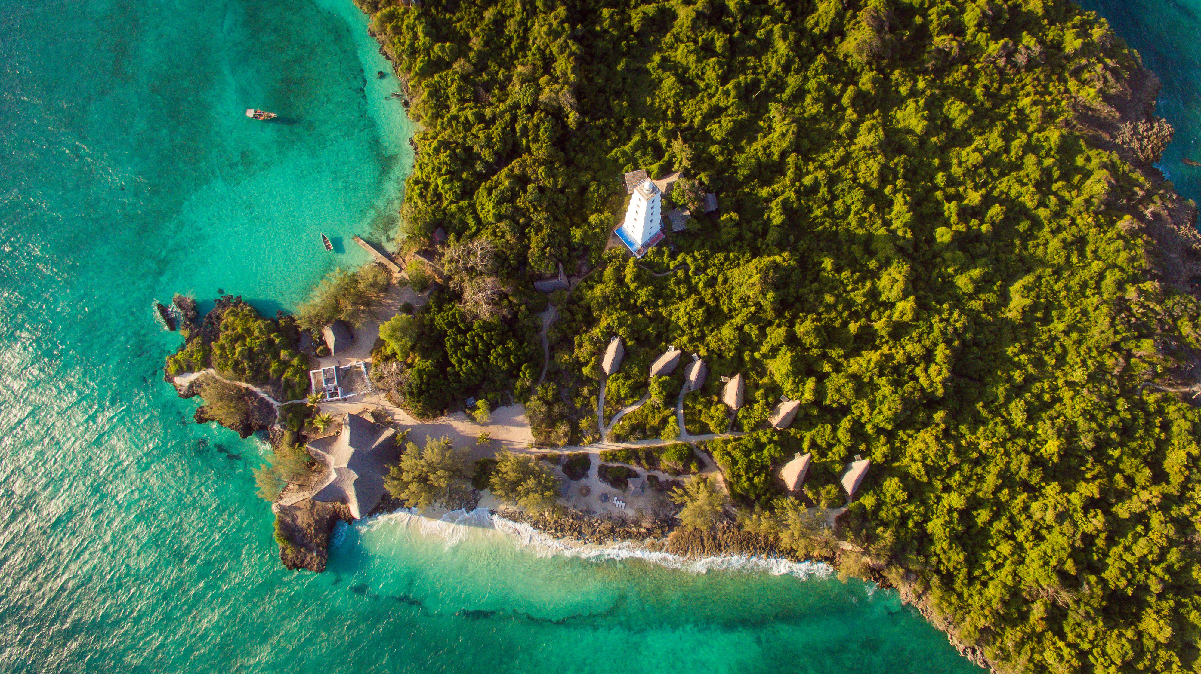 Chumbe Island, off Zanzibar, is surrounded by coral reefs