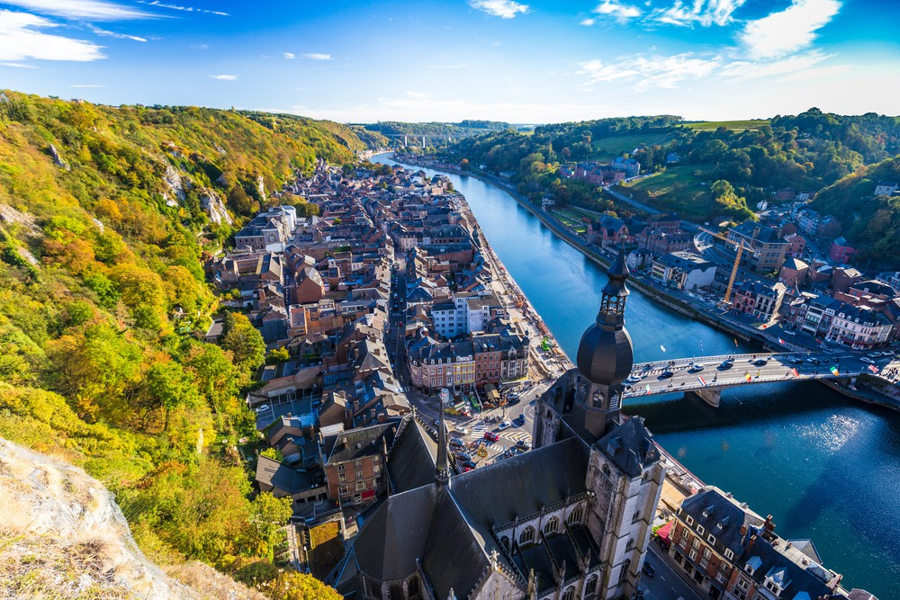 Aerial view of Dinant, Belgium and river Meuse ©Beketoff Photography / Shutterstock