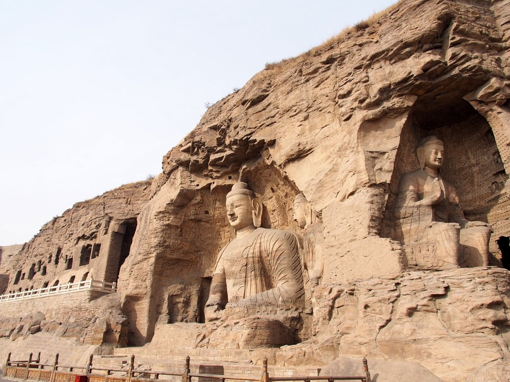 Buddha statue at Yungang Grottoes in Datong, China
