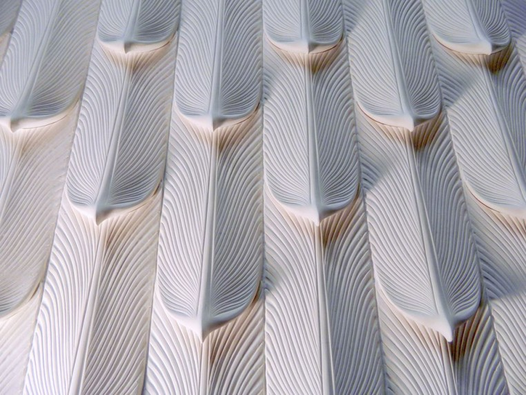 Sculptural wall panels | Courtesy of Nathan Hunt