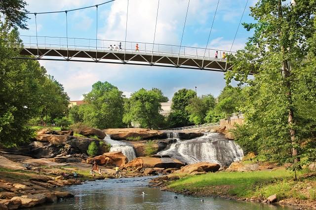 Liberty Bridge At Falls Park | Courtesy VisitGreenvilleSC.com