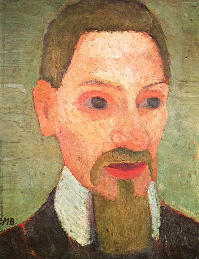 Paula Modersohn-Becker (1876–1907), an early expressionist painter, became acquainted with Rilke in Worpswede and Paris, and painted his portrait in 1906. / © wikicommons