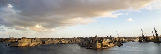 Valletta harbour view with clouds| © DG EMPL /flickr