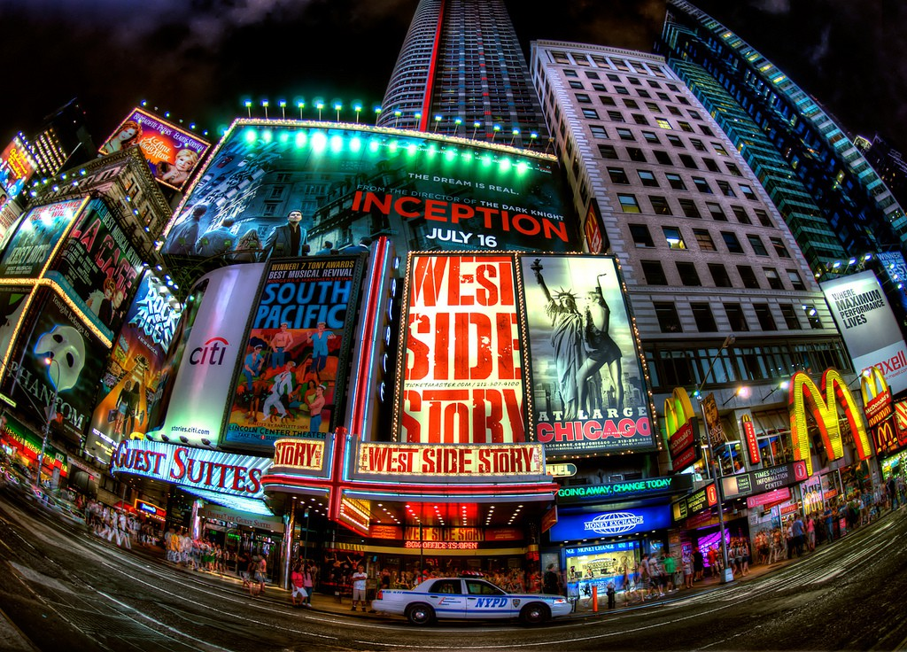 Times Square Fisheye | © Randy Lemoine/Flickr