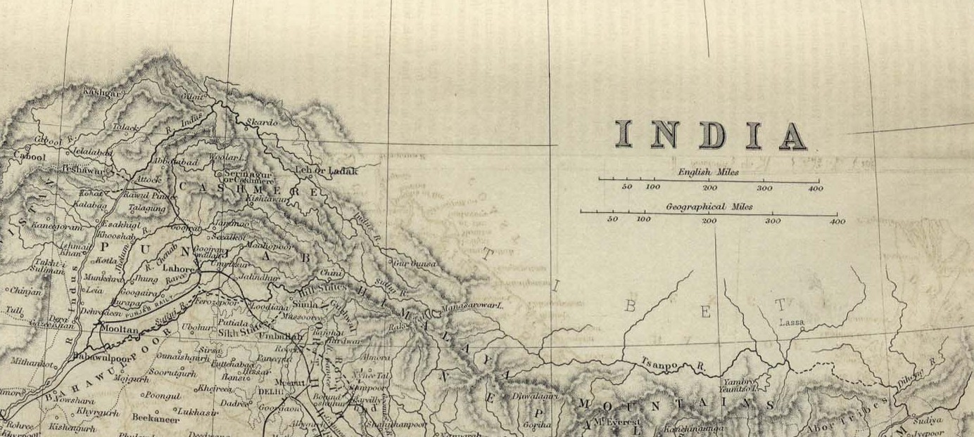 Map of India (1882) |  © University of Texas Libraries