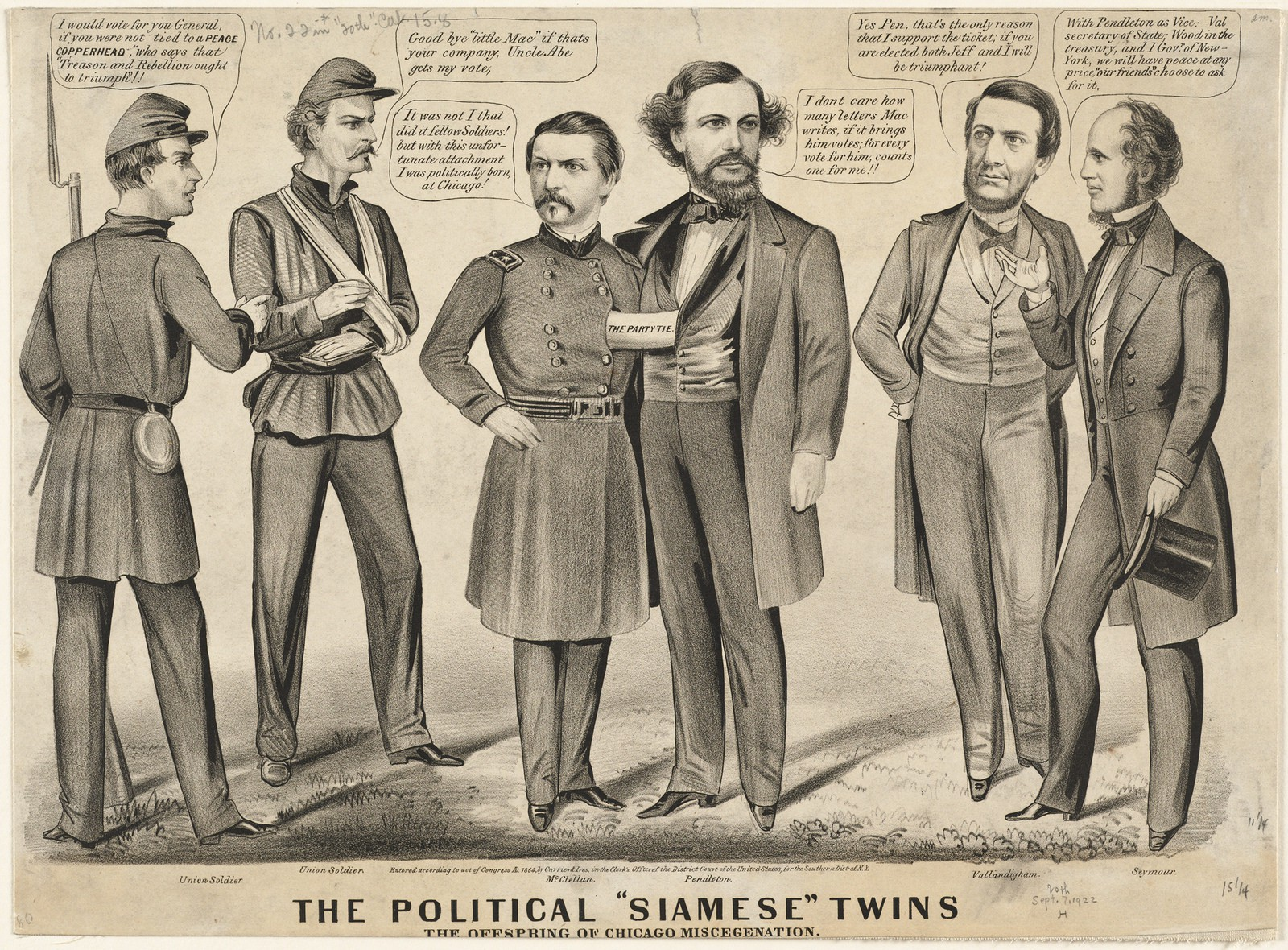 """The political """"Siamese"""" twins, the offspring of Chicago miscegenation 