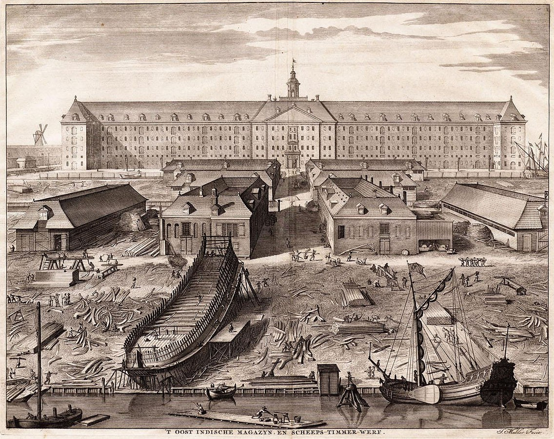 A shipyard owned by the Dutch India Company | © Stadsarchief Amsterdam / Wikicommons