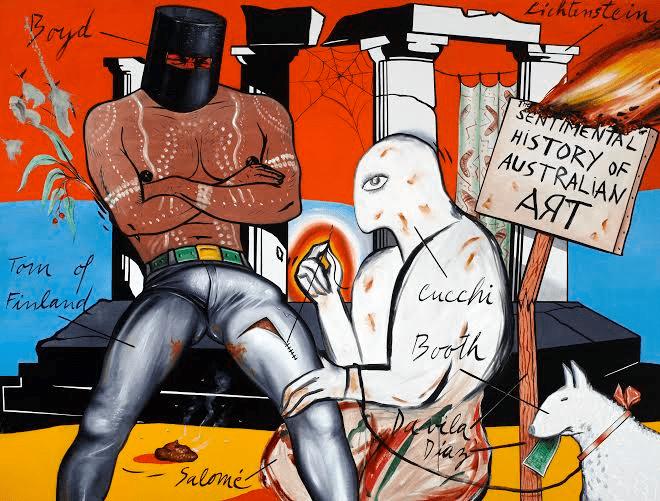 Artist Juan Davila's Critical Eye On 20th Century Western Politics