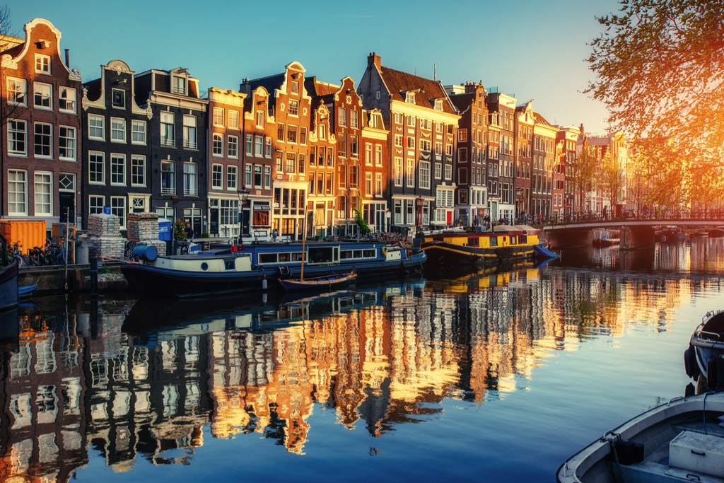 Reflections in an Amsterdam canal