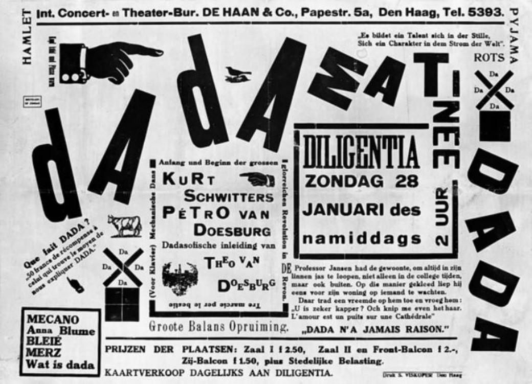 Theo van Doesburg Dadamatinée | © centraalmuseum.nl/WikiCommons