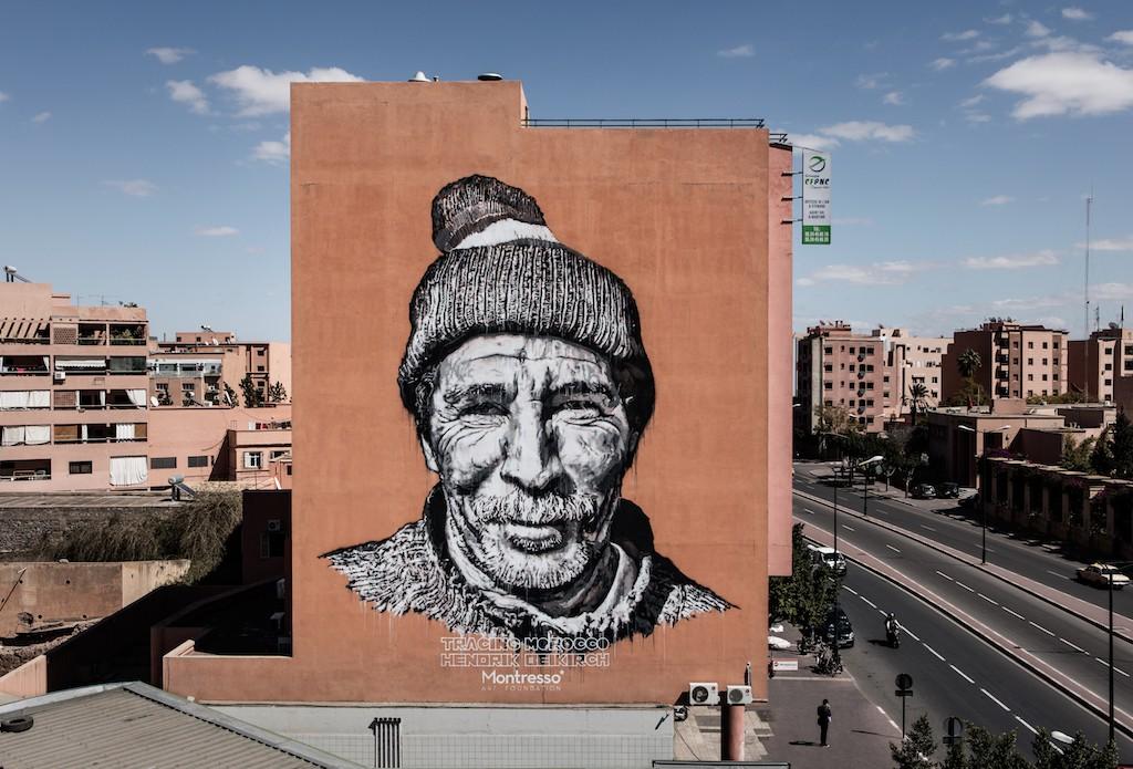 Hendrik Beikirch's Aziz installation in Marrakech © HB